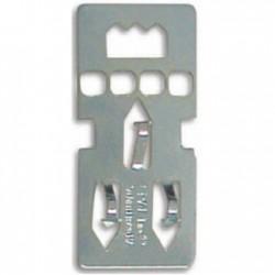 Colgador metálico tipo cartón pluma caja de 100 unidades
