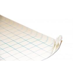 Adhesivo doble cara traslucida permanet/removible con doble liner siliconado