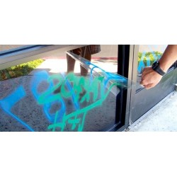 Lamina proteccion anti-graffiti transparente