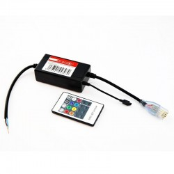 Controlador + conector con mando toras RGB 220 V.