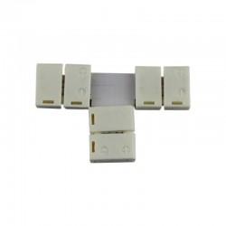 """Conector sin cable 3 vias forma """"T"""" Monocolor para tiras 3528/5050"""