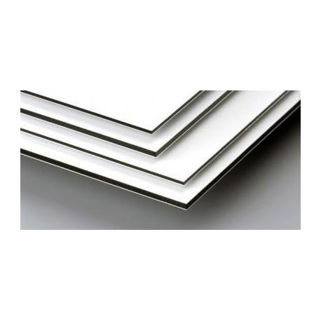Composite 3mm aluminio de 0.21mc   blanco/blanco