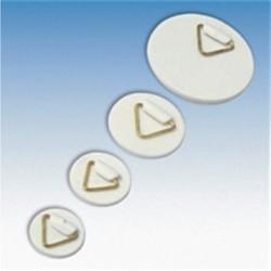 Colgador triangular base circular autoadhesiva 100 und.