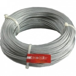 Cable inoxidable 25 m 2mm plata brillo