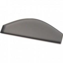 Tapa para perfil plafon curvo plastico gris