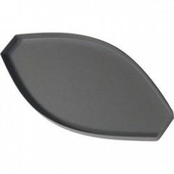 Tapa para perfil banderola curvo plastico gris