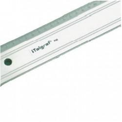 Regla de aluminio con canto de acero y base de goma antideslizante