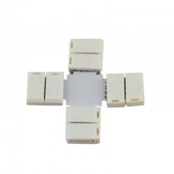 """Conector sin cable 4 vias forma """"+"""" RGB para tiras 5050"""