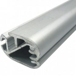 Perfil banner rail aluminio anod. Plata mate x barra de 6m